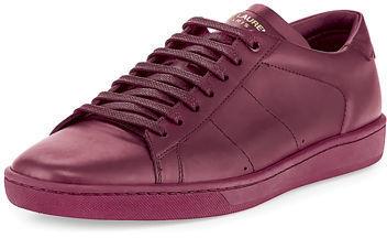 Saint Laurent Sl01 Leather Low Top