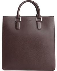 Burgundy leather top handle messenger bag medium 672595