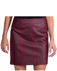 Amanda Chelsea Faux Leather Snake Skirt
