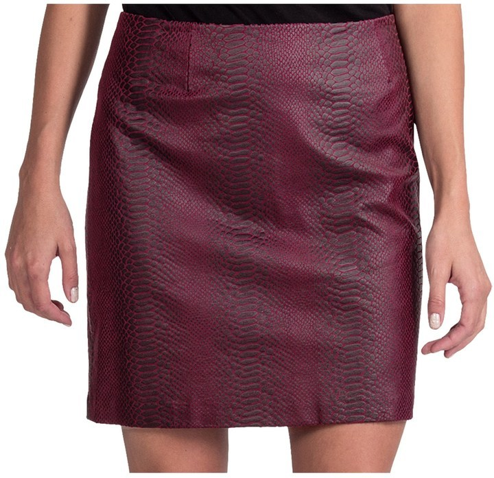 Amanda Chelsea Faux Leather Snake Skirt | Where to buy & how to wear