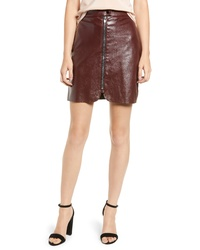 Bishop + Young Exposed Zip Miniskirt