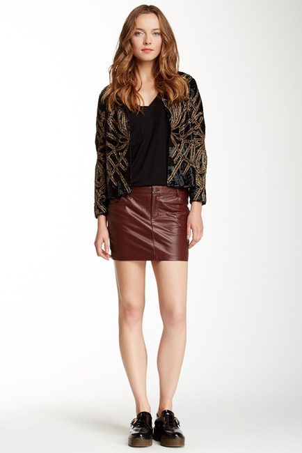 haute hippie stretch leather mini skirt where to buy