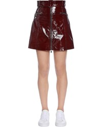 Zip up patent leather mini skirt medium 4417773