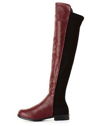 Bamboo Stretchy Flat Knee High Boots