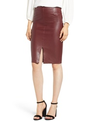 David Lerner Faux Leather Pencil Skirt