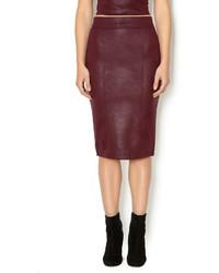 Haute Monde Burgundy Skirt