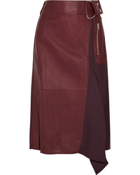 3.1 Phillip Lim Leather And Wool Twill Skirt
