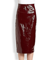 Burberry Prorsum Patent Leather Skirt