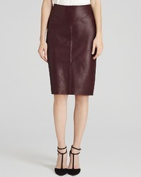 Women's Burgundy Leather Pencil Skirts from Bloomingdale's ...