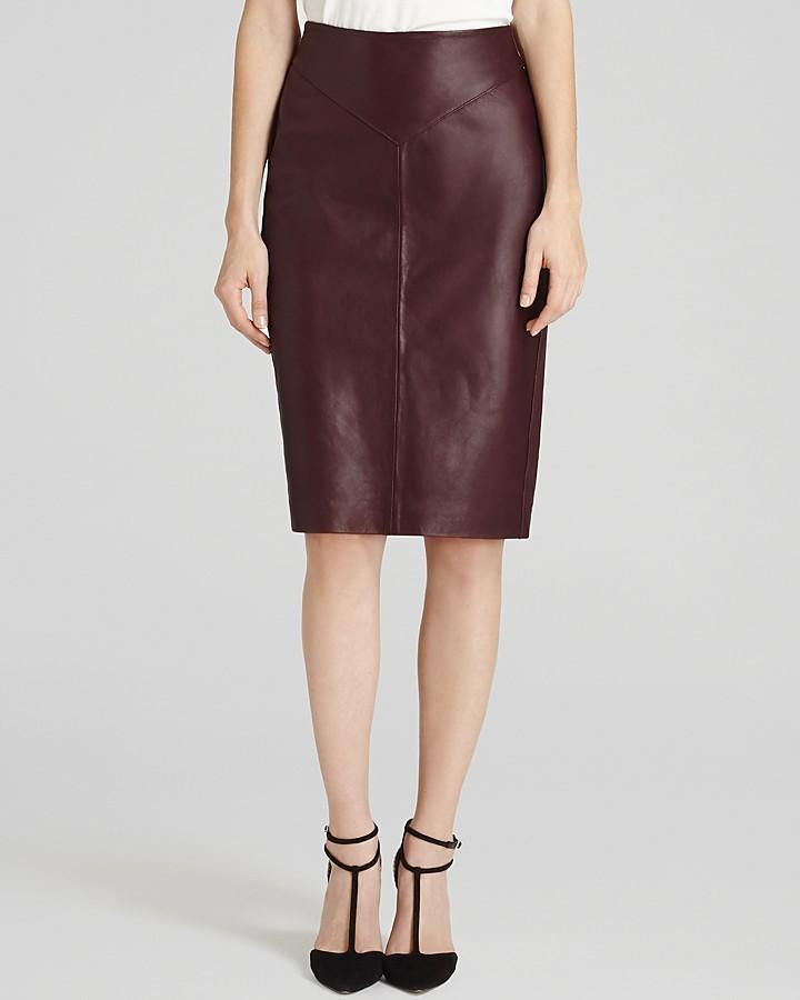 burgundy leather pencil skirt reiss pencil skirt shannon
