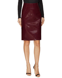Valentino Faux Leather Pencil Skirt