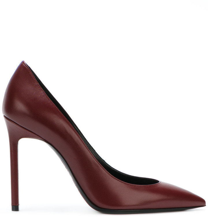17996436f9c5 Women s Fashion › Shoes › Pumps › farfetch.com › Saint Laurent › Burgundy  Leather Pumps Saint Laurent Anja 105 Pumps ...