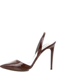 Stella McCartney Burgundy Pointed Toe Pumps