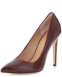 Halston Heritage Shirley Pointed Toe Patent Leather Pump Burgundy