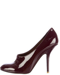 Stella McCartney Patent Leather Round Toe Pumps