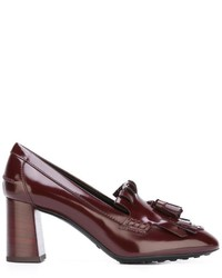 Tod's Tasseled Kilties Pumps