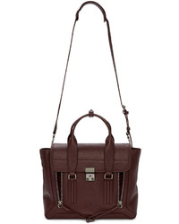 3.1 Phillip Lim Burgundy Medium Pashli Satchel