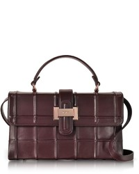 Burgundy nappa leather lunch bag medium 6448449
