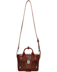 3.1 Phillip Lim Burgundy Patent Leather Mini Pashli Satchel