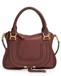 Chloe medium marcie leather satchel black medium 6448454