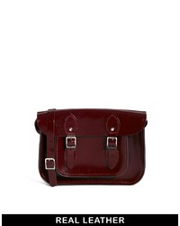 Leather Satchel Company The 11 Oxblood Patent Satchel