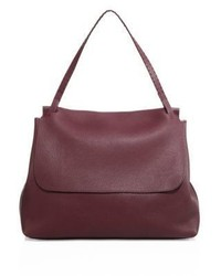 The Row Leather Top Handle 14 Satchel