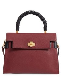 Madras click goatskin leather satchel burgundy medium 6448452