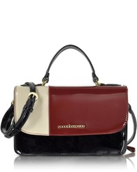 Roccobarocco Medium Patent Eco Leather Satchel Bag
