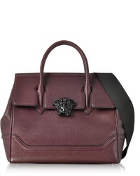 Versace Palazzo Empire Grained Leather Satchel Bag Wblack Medusa