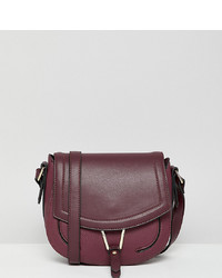 Accessorize Phillipa Burgundy Cross Body Saddle Bag
