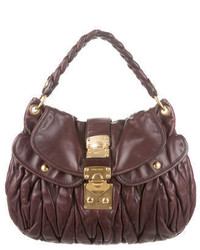 Miu Miu Quilted Leather Coffer Satchel