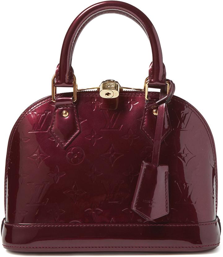 aa345c31686b8 ... Louis Vuitton Rouge Fauviste Monogram Vernis Alma Bb ...