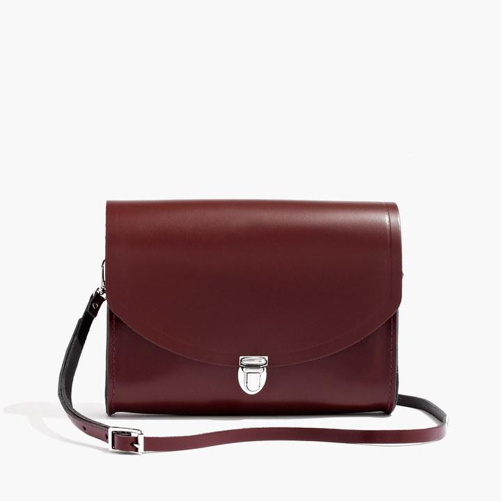 5dc6b6858d16 ... Leather Satchel Bags Madewell The Cambridge Satchel Company Large Push  Lock Crossbody Bag ...