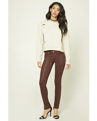 Forever 21 Faux Leather Skinny Jeans