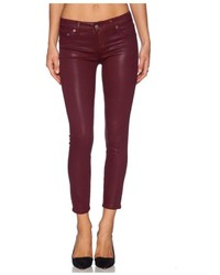 Lovers + Friends Red Coated Skinny Jean