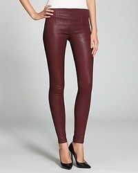 Sold Design Lab Jeans Burgundy Coated Side Zip Skinny