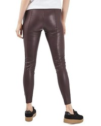 Topshop Percy Faux Leather Skinny Pants