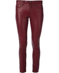 Saint Laurent Faux Leather Trousers
