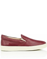 Barneys New York Crepe Sole Leather Slip On Sneakers