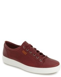 Burgundy Leather Sneakers