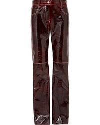 MSGM Wool Blend Straight Leg Pants