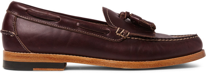 5a6289ad6f1 ... Bass Weejuns Leyton Tasselled Leather Loafers ...