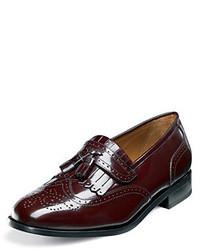 Florsheim Brinson Wing Tip Slip On Shoe Burgundy