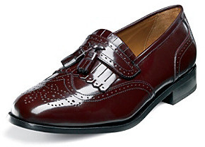 florsheim brinson wing tip slip on shoe burgundy where