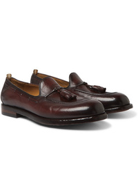 Officine Creative Ivy Burnished Leather Tasselled Loafers