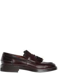 Santoni Leather Fringed Tasseled Loafers