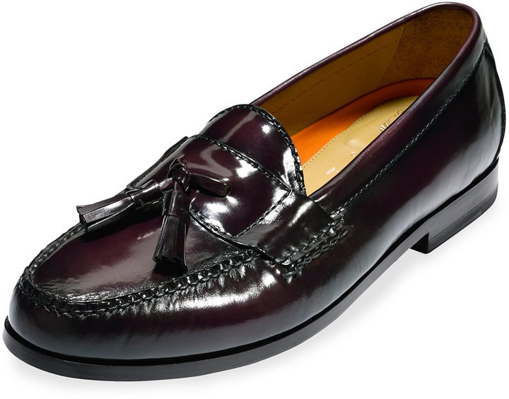 6dc5d9d72ab ... Cole Haan Pinch Grand Leather Tassel Loafer Burgundy ...