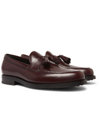 Tod's Polished Leather Tasselled Loafers
