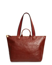 Clare V. Claire V Le Zip Leather Tote