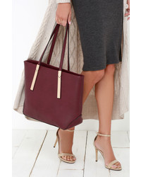 LuLu*s Prima Donna Girl Brown Tote